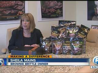 Brownie Brittle helping sick kids
