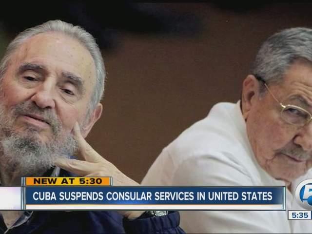 Cuba suspends consular services in united states for Consular services