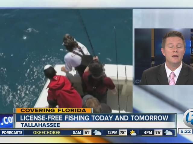 License free fishing florida officials announce license for Florida out of state saltwater fishing license