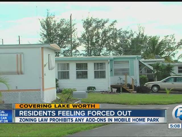 Porches Sheds Expanding Homes Not Allowed In Mobile Home Parks Lake Worth