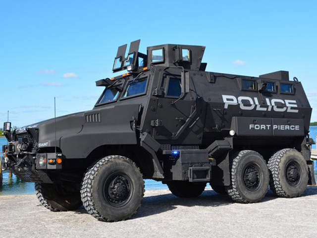 fort pierce police department unveils new armored vehicle. Black Bedroom Furniture Sets. Home Design Ideas