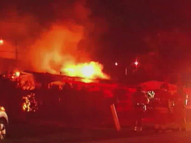 Palm Beach Gardens House Engulfed By Flames