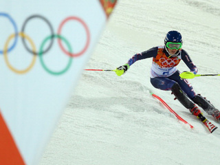 Women's Olympic slalom skiing results