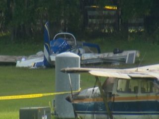 Pilot faulted in crash while filming zombie film