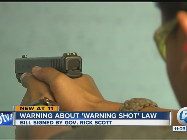 ... about interpretation of Florida's new 'warning shot' law - wptv.com