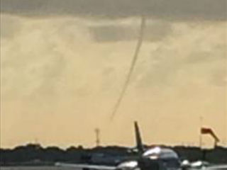 Waterspout forms off Palm Beach County