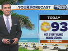 Hot & humid this weekend with inland storms