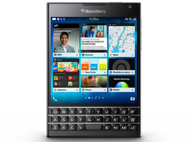 Blackberry has unveiled a large screen square sized phone called the