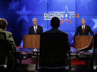 WATCH: Scott, Crist meet in first debate