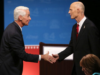#Fangate dominates second Crist-Scott debate