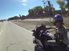 VIDEO: Motorcycle group taunts police officer