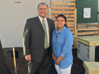 Jupiter HS senior builds outdoor classroom