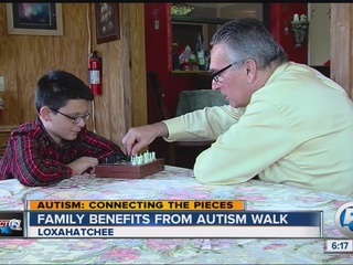 Family benefits from local walk for autism