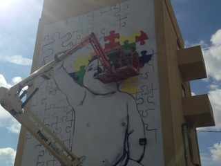 Autism mural going up in West Palm Beach