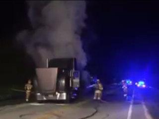 Semi fire impacts SR 710 NB near Indiantown
