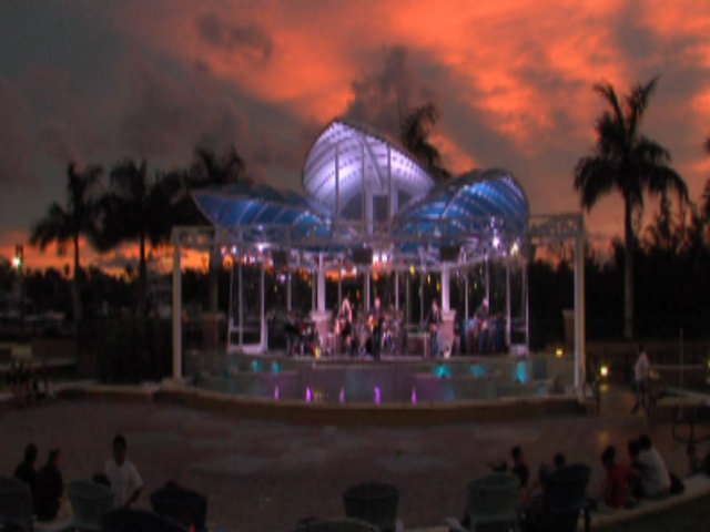 Music is back at Harbourside Place in Jupiter, but it's not permanent yet.