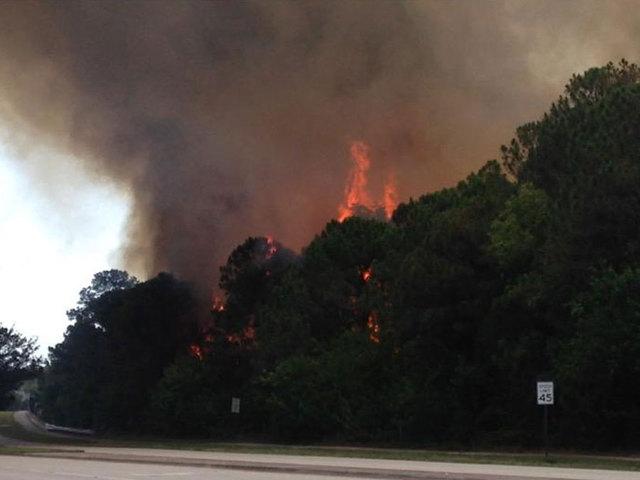 Crews battle brush fire in Palm Beach Gardens