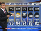 A few downpours possible overnight