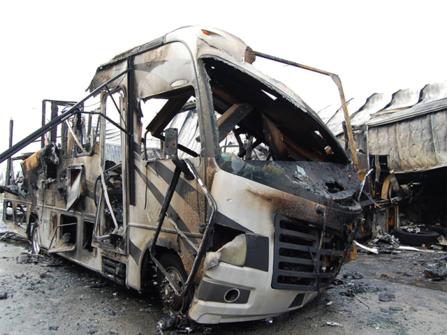 Fire destroys RVs at Port St  Lucie dealership