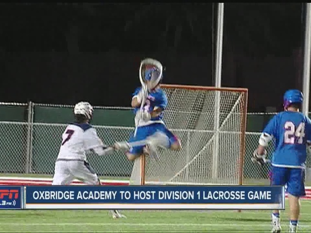 Oxbridge Academy to host Division 1 lacrosse game