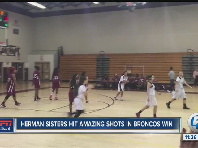Twin sisters hit amazing shots for Palm Beach Central