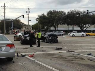 Two injured in Delray Beach 4-vehicle crash