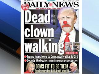 NY Daily News calls Trump 'dead clown walking'