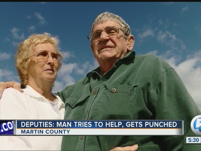 Elderly man punched in Hobe Sound