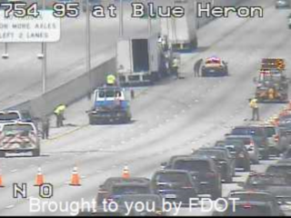 Crash snarls traffic on I-95 NB at Blue Heron