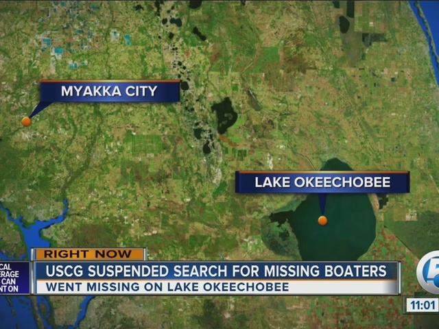 Coast Guard suspends search for couple missing on Lake Okeechobee