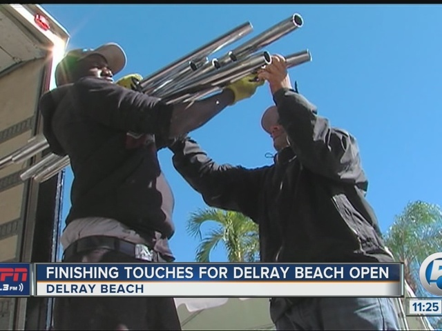 Preparations underway at the Delray Beach Open
