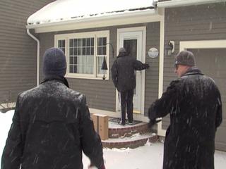 Volunteers go door to door for their candidates
