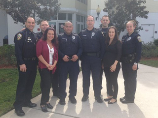 Woman meets officers who rescued her Christmas