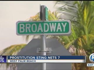 7 arrestos por prostitución en West Palm Beach