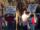 Residents protest discharges at Putnam event