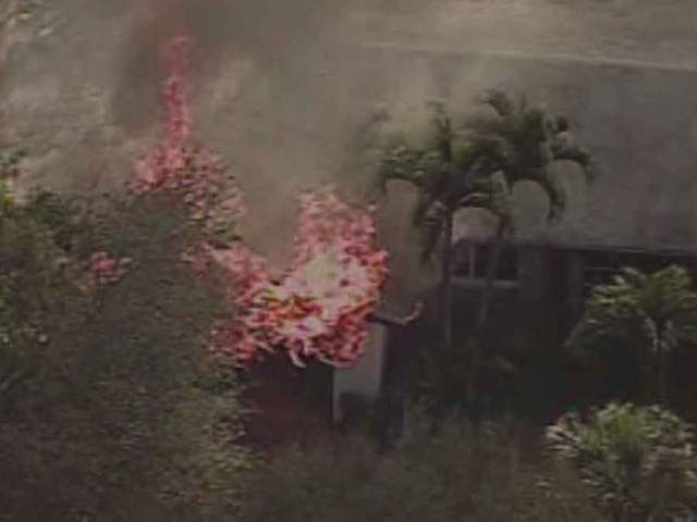 Large house fire near Palm Beach Gardens