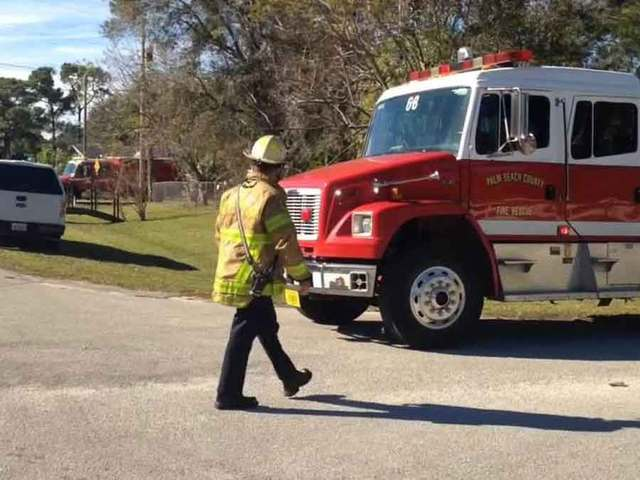Large house fire near Palm Beach Gardens