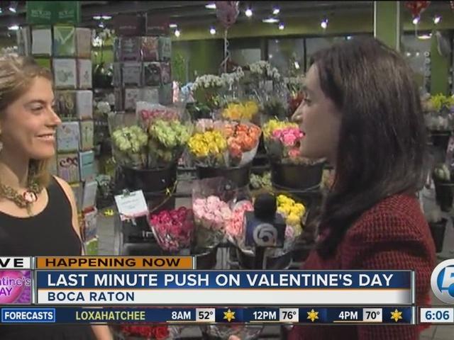 Last minute push on Valentine's Day