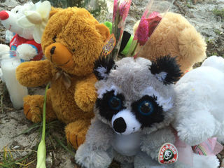 Memorial up for child killed in police chase