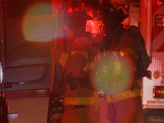 Elderly woman rescued from burning house