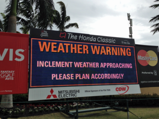 Play Suspended At The Honda Classic Due To Stormy Weather