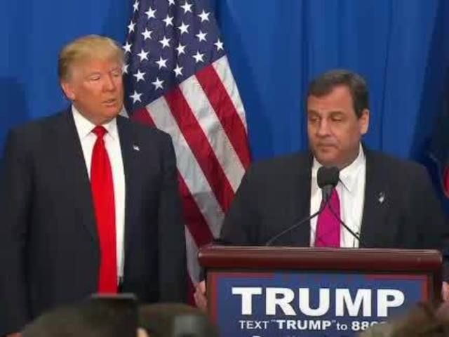 Donald Trump gets biggest endorsement ever from New Jersey Governor Christie