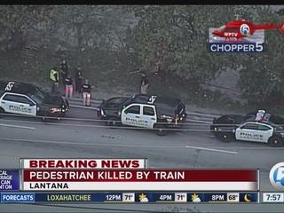 Muere peatón atropellado por tren en Lantana