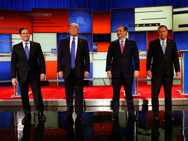 Candidates face off at Fox News GOP debate in Detroit
