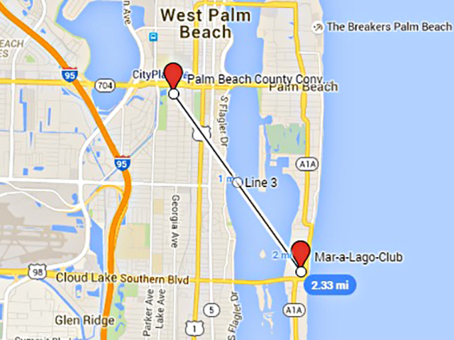 Map of mar a lago pictures to pin on pinterest pinsdaddy Donald trump residence address
