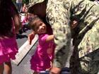 Soldier surprises daughters at Hobe Sound school