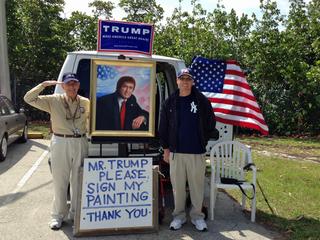 Local artist seeks Donald Trump's signature
