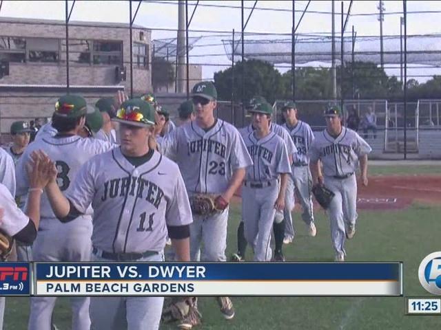 Jupiter baseball wins big
