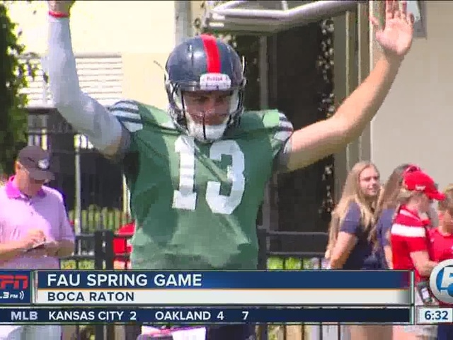 A Look Back at FAU's Red-Blue Spring Game; Partridge Won't Name Starter