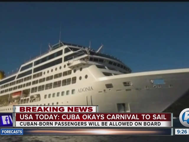 Carnival will sail to Cuba